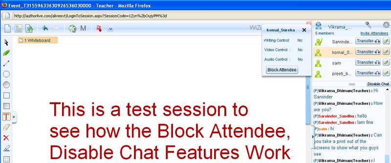 Block Attendee