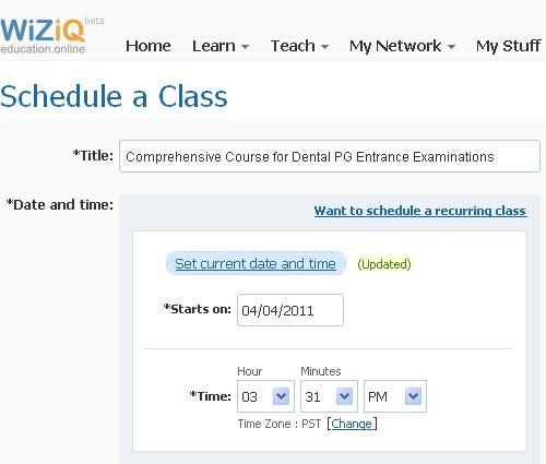 Schedule-a-Class